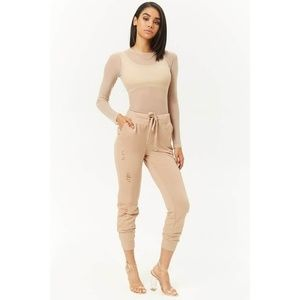 Pants - Distressed Terry Jogger NWT